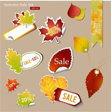 Autumn discount tags