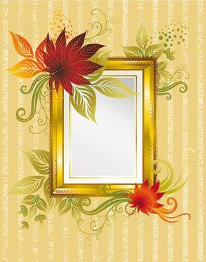 autumn elements of frames vector