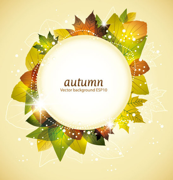 autumn elements vector background set