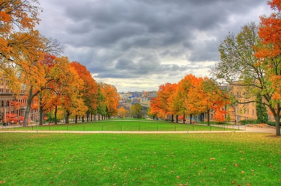 autumn from bascom hill in madison wisconsin