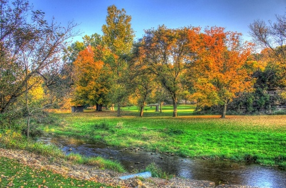 autumn landscape at apple river canyon state park illinois