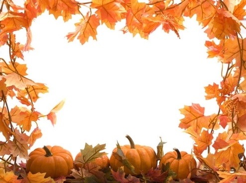 autumn leaves pumpkin picture frame 04 hd pictures