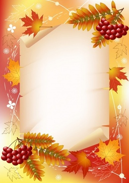 autumn background classical orange red leaves fruit decor