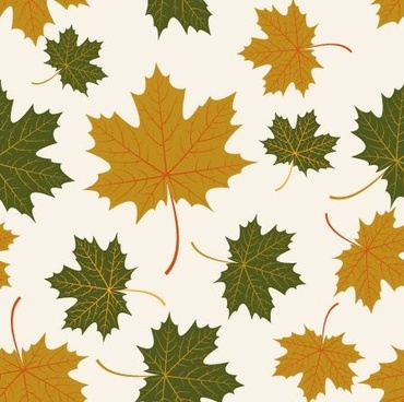 autumn maple leaves vectors seamless pattern