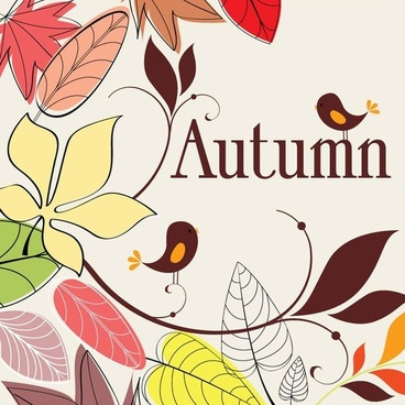 autumn nature drawing vector