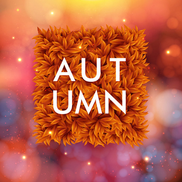 autumn offer vector background graphics
