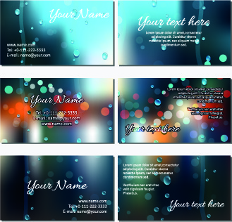 autumn rain style business card vector