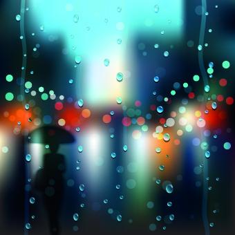 autumn rain vector background