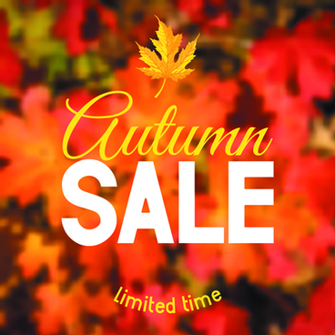 autumn sale blurred background vector