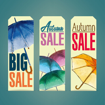 autumn sale tags design graphics vector