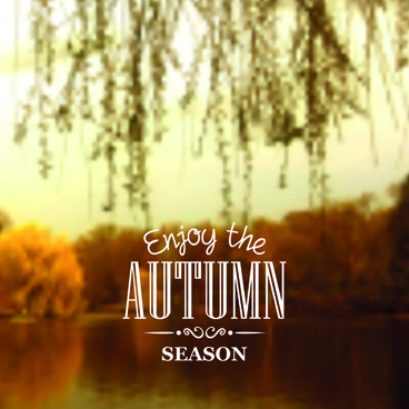 autumn season nature blurred background