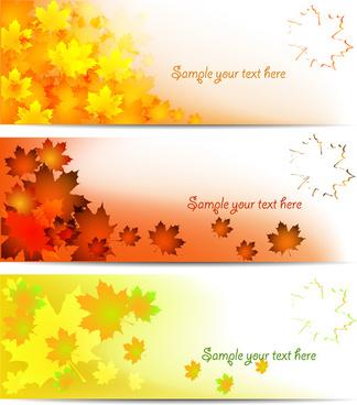 autumn shiny banner vector