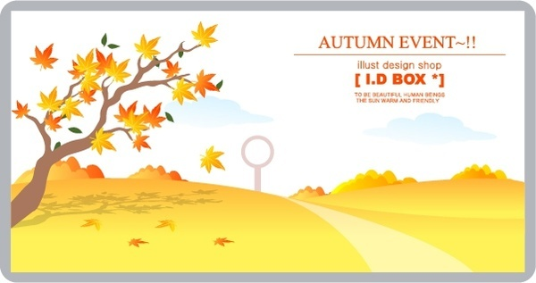 autumn background yellow leaves landscape decor