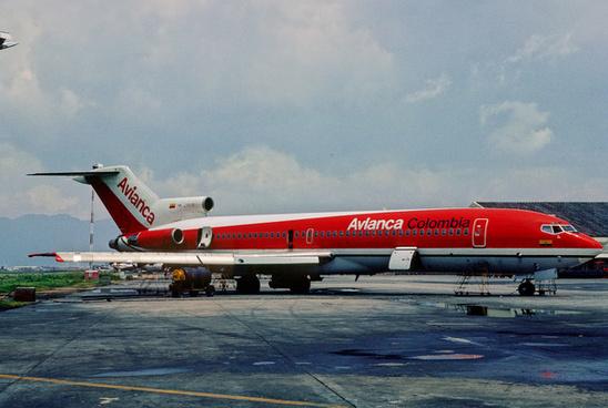 avianca boeing 727 2a1 hk 2151x april 1984 dbv