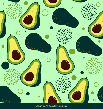 avocado pattern template flat sketch classical repeating
