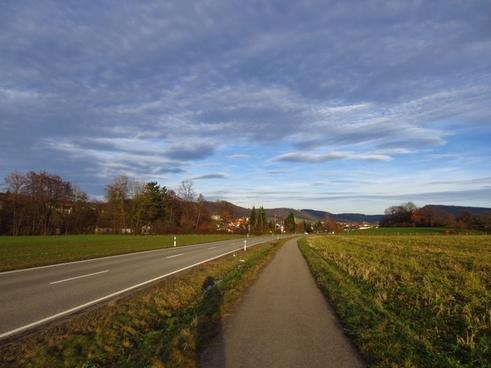 away road sunny