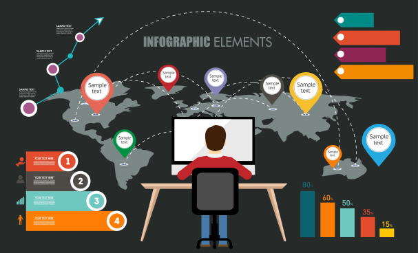 awesome info graphics elements with fully detail
