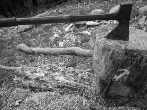 axe blade block
