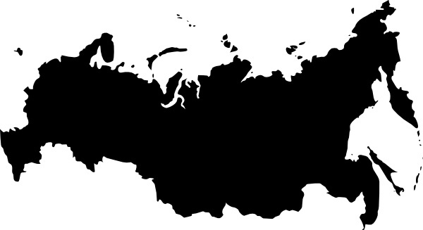 Babayasin Russia Outline Map clip art
