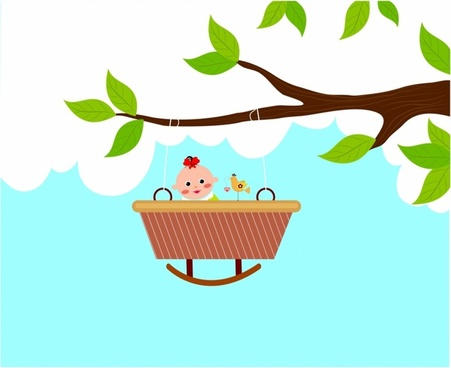 Baby Bassinet on a Branch