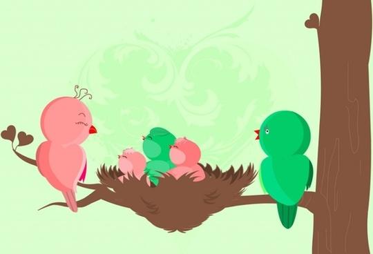 Baby Birds Birth Card