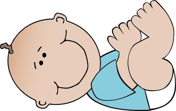 Baby Boy Lying clip art