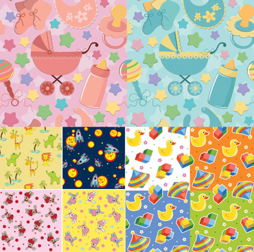 baby cloth background vector
