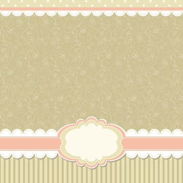 Baby Frame Backgrounds Vector