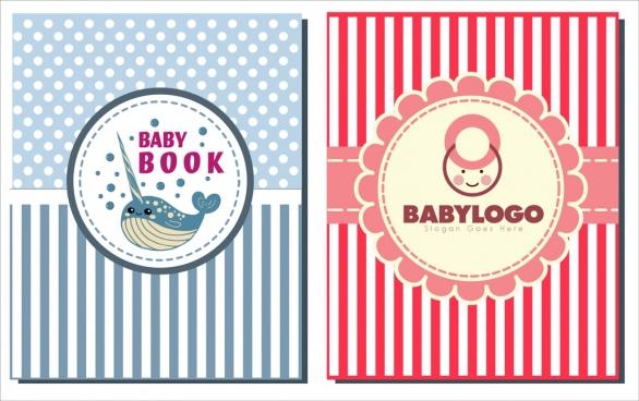 baby logotypes colored flat circle fish kid icon