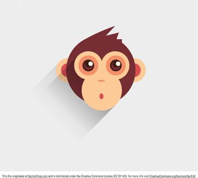 baby monkey vector