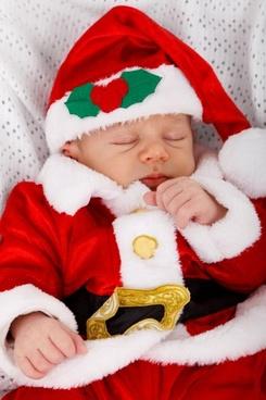 baby santa sleeping