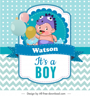 baby shower card template cute boy sketch