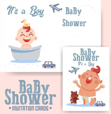 baby shower templates cute kid icon classical design