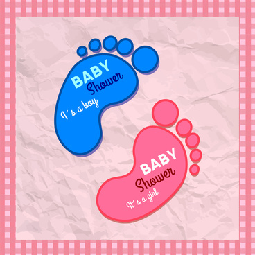 baby shower with foot print