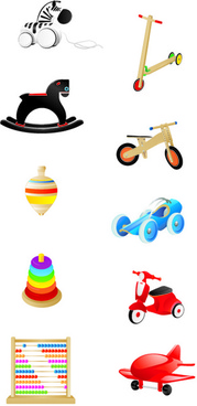 baby toys cute design vector graphics