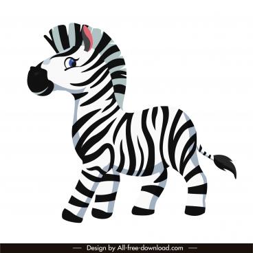 baby zebra icon cute cartoon sketch