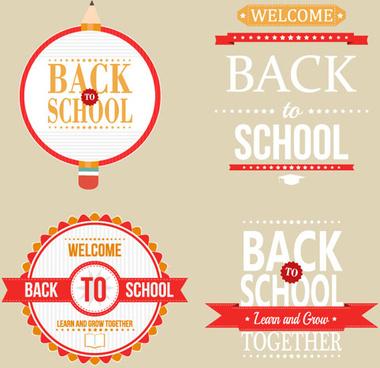 back school labels vector