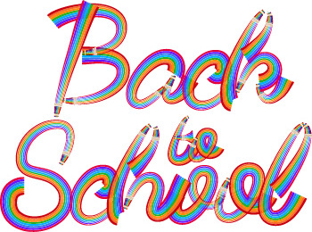 back school wordart creative vector
