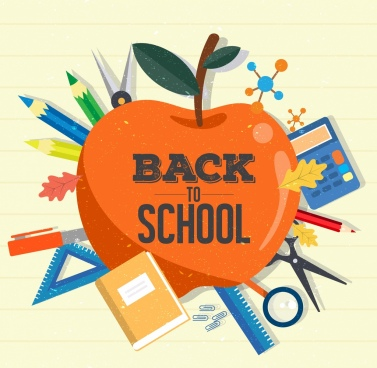 Back to school background free vector download (125,008 Free