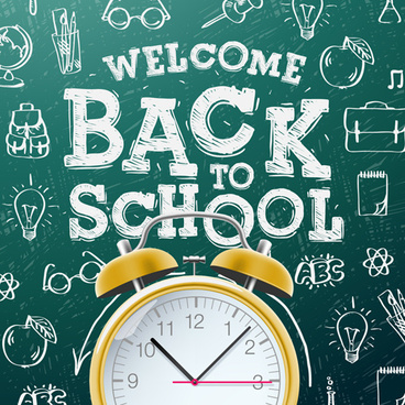 back to school background graphics vector