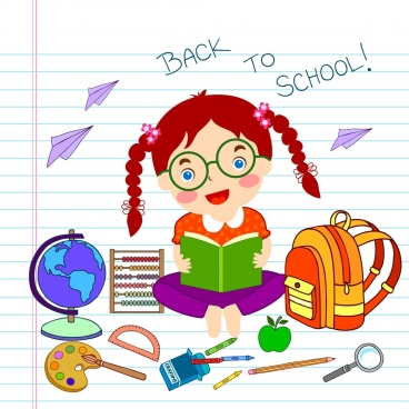 back to school background hand drawing education icons