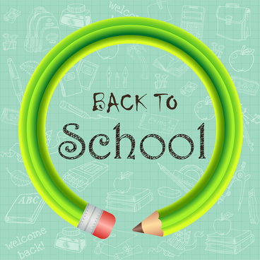 back to school background with pencil