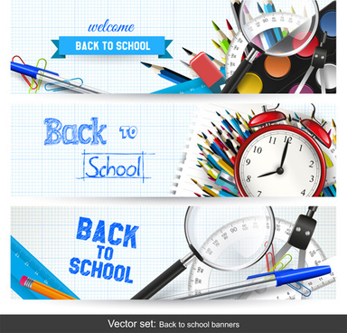 back to school banner creative