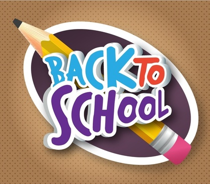 back to school banner design with pencil