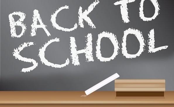 Back to School Blackboard Sign design
