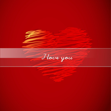background and romantic hearts vector graphics