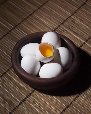 background bamboo basket breakfast chicken