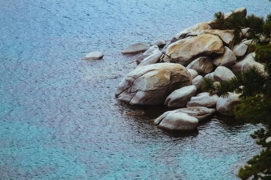 background beach coast frozen granite ice landscape