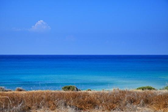 background blue coast
