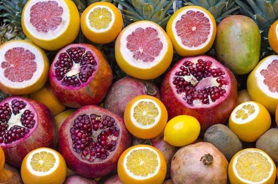 background bright citrus color exotic food fruit